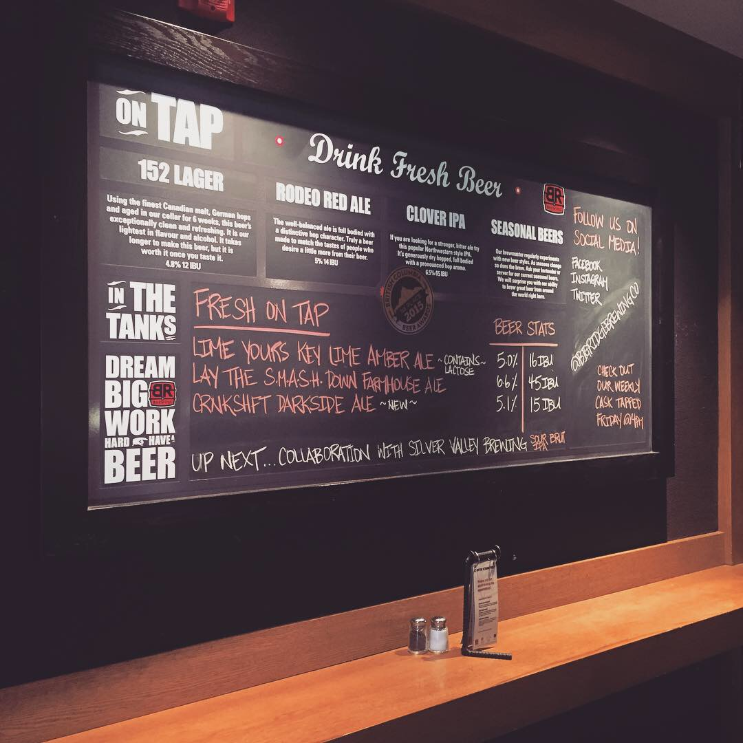 big ridge beer menu