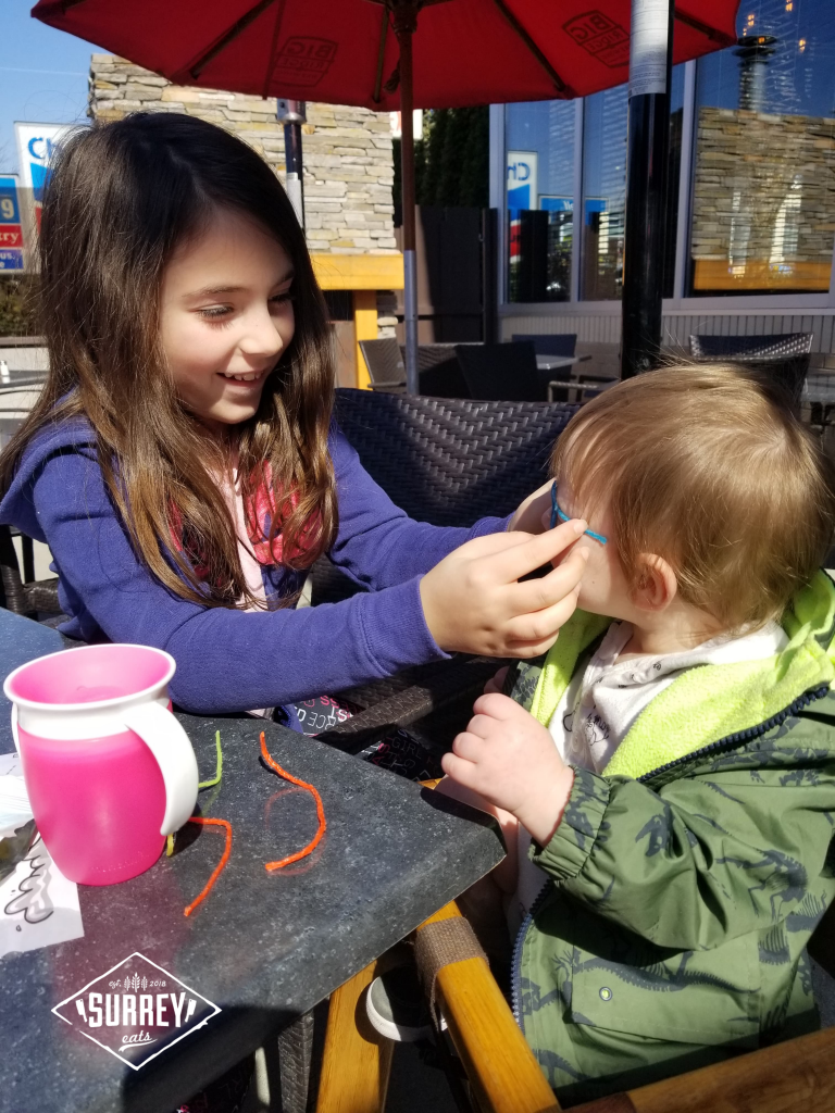 Kids playing on Big Ridge Brewing Co patio