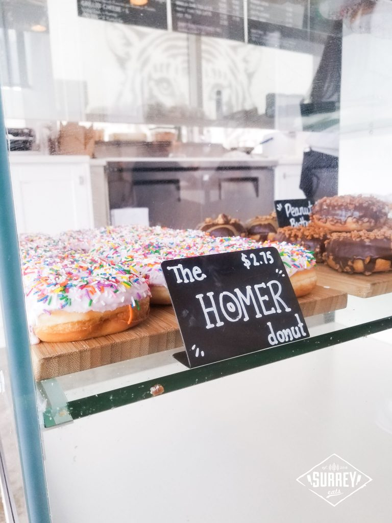 The homer donut at Black Tiger Coffee Co.