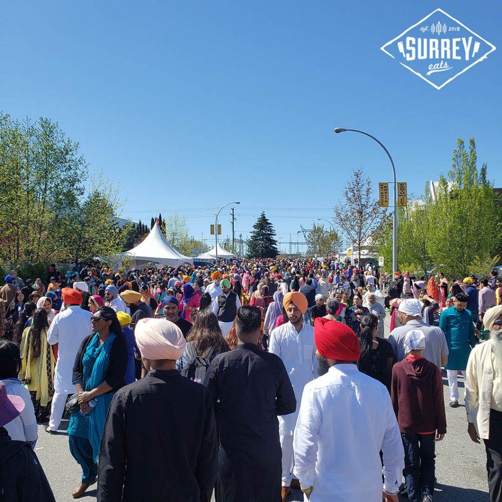 Crowd of people at Surrey Vaisakhi 2019