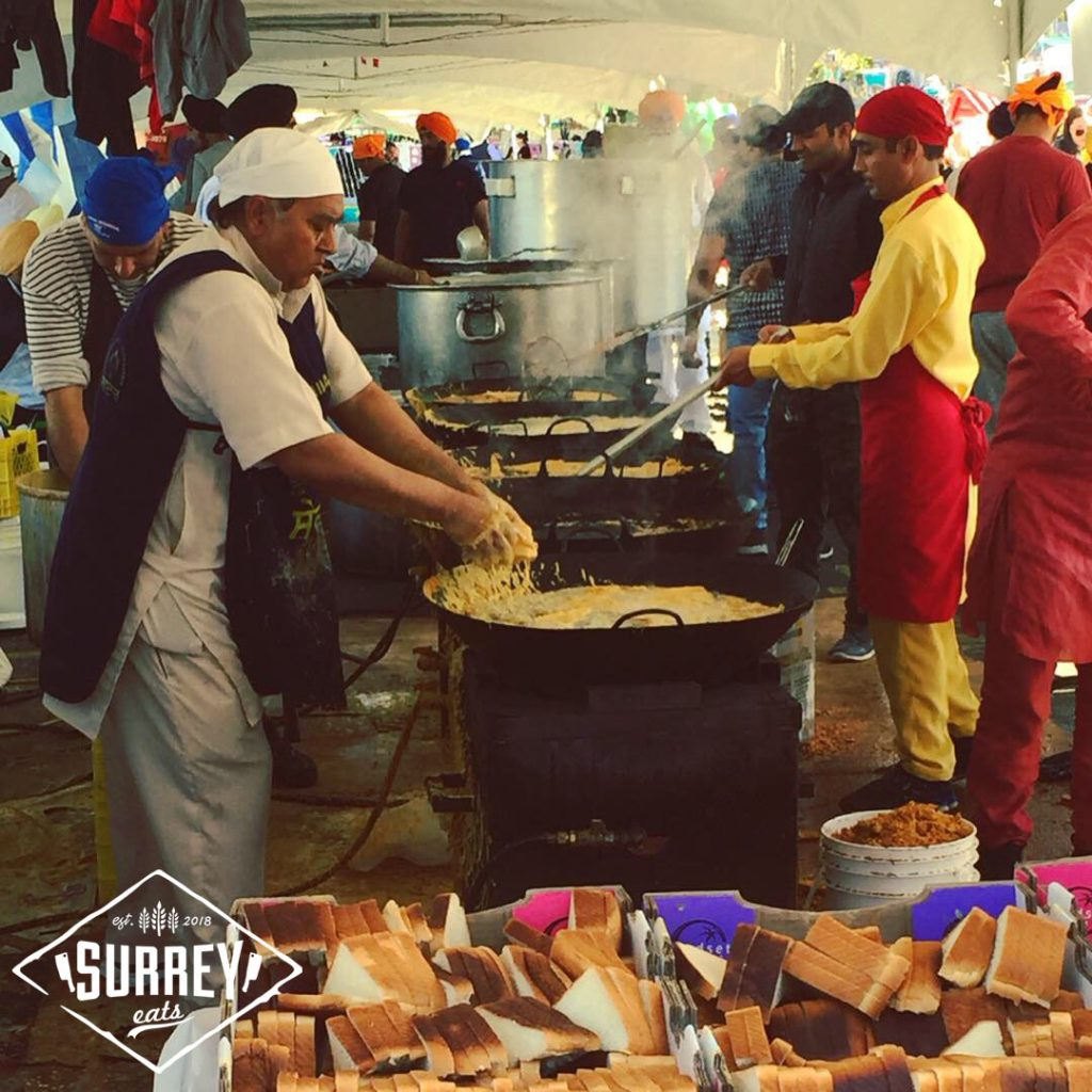 Volunteers cooking food at Surrey Vaisakhi