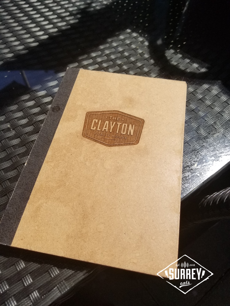 Clayton Public House menu