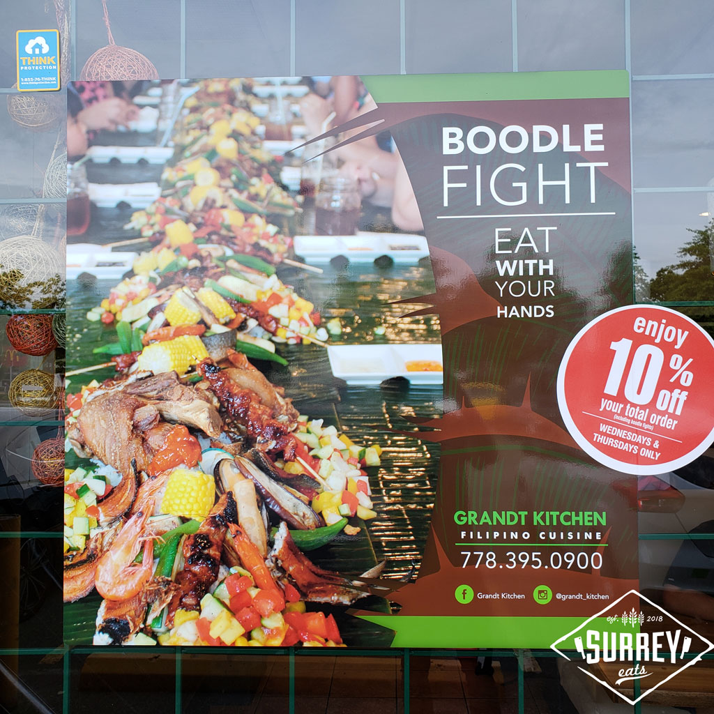 Poster for Boodle Fight at Grandt Kitchen