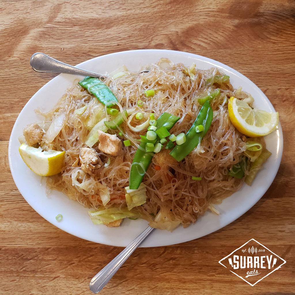 Pancit Bihon, a Filipino noodle dish