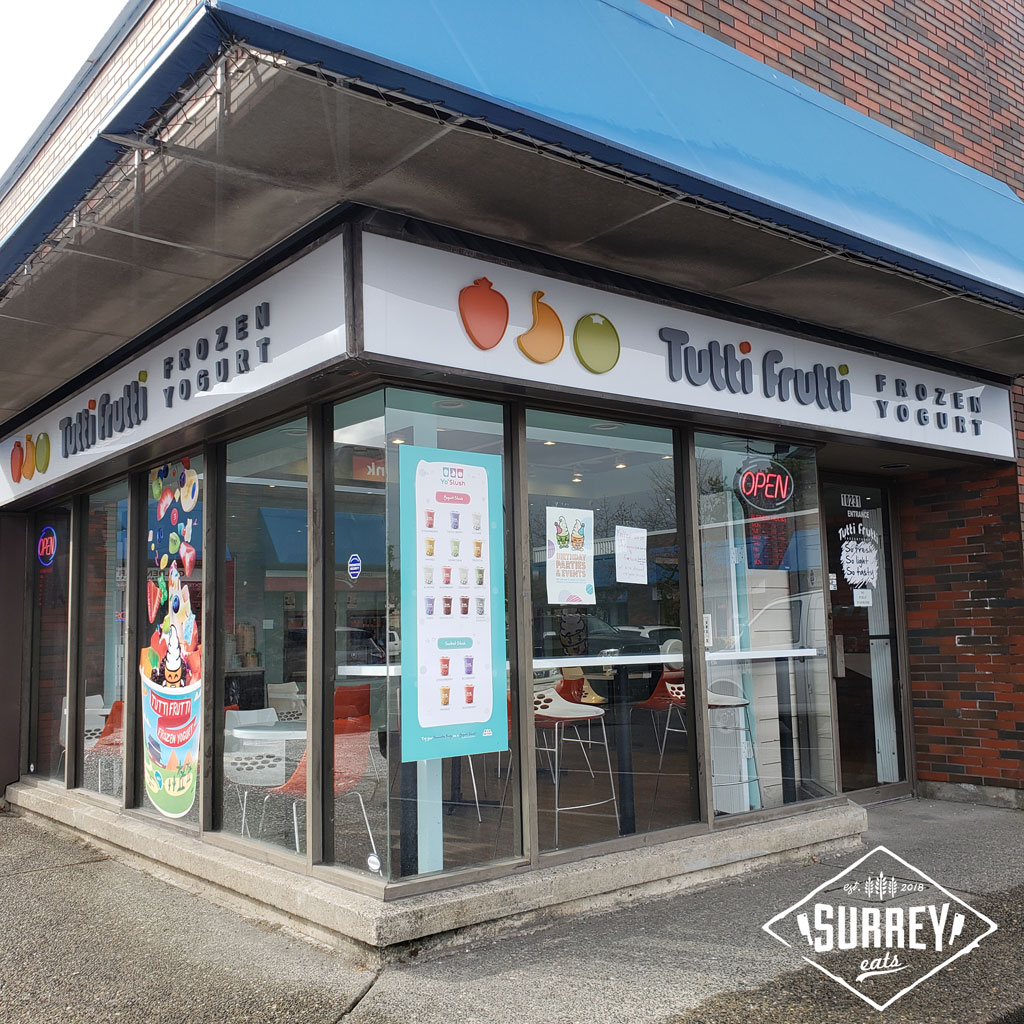 Tutti Frutti Frozen Yogurt Surrey exterior