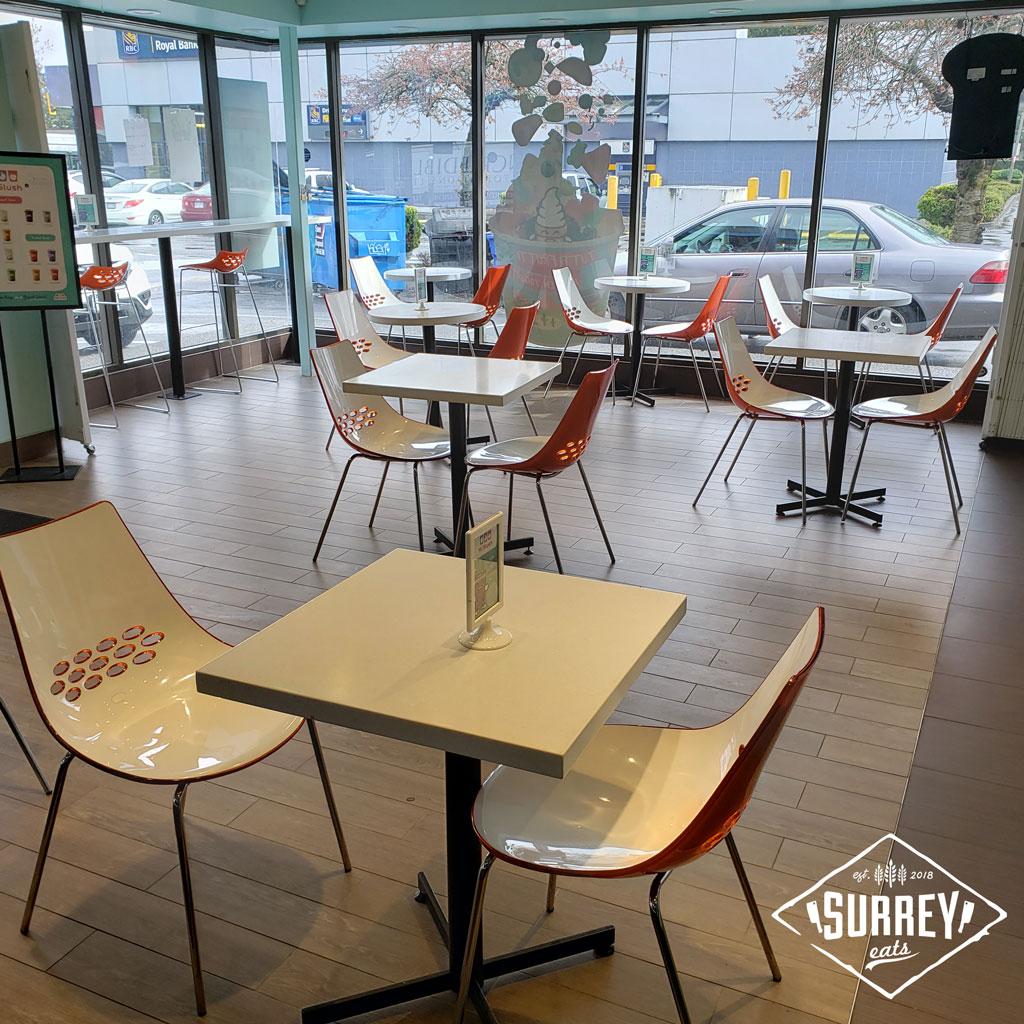 Tutti Frutti Surrey location interior