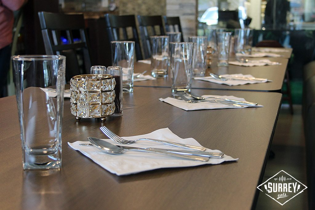 A table set for ten at Adana