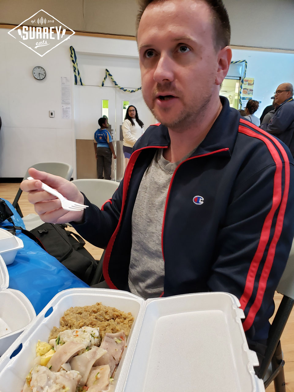 Craig from Surrey Eats asking what the food is