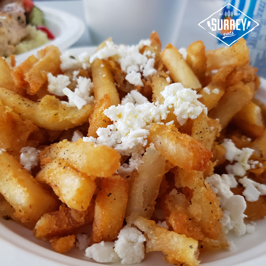 Greek fries with oregano and feta cheese