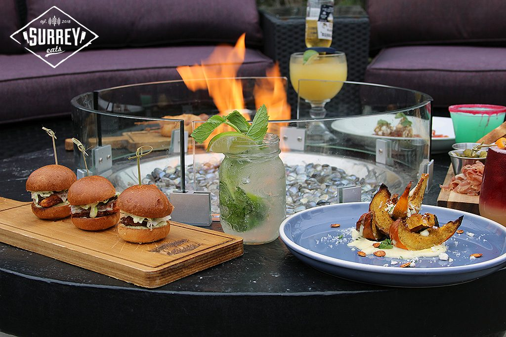 Food Surrounding Patio Firepit At Surrey Eats Summer Social