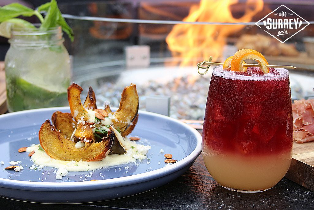 Roasted Acorn Squash And Cocktail