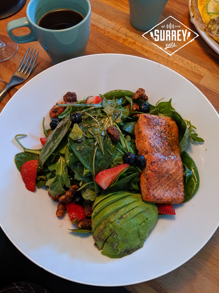 Spring Wooden Spoon salad with salmon and avocado