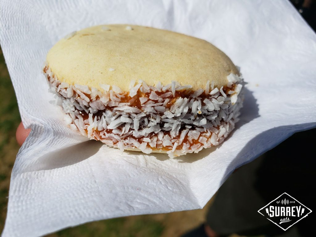 Alfajores, a cookie filled with dulce de leche and covered in coconut flakes from Uruguay at the Surrey Fusion Festival