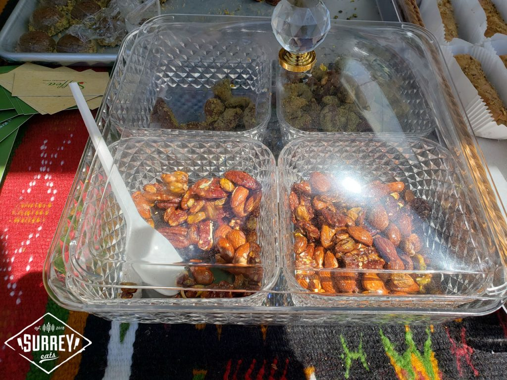 Algerian sweets including Maple nuts and crusted dates