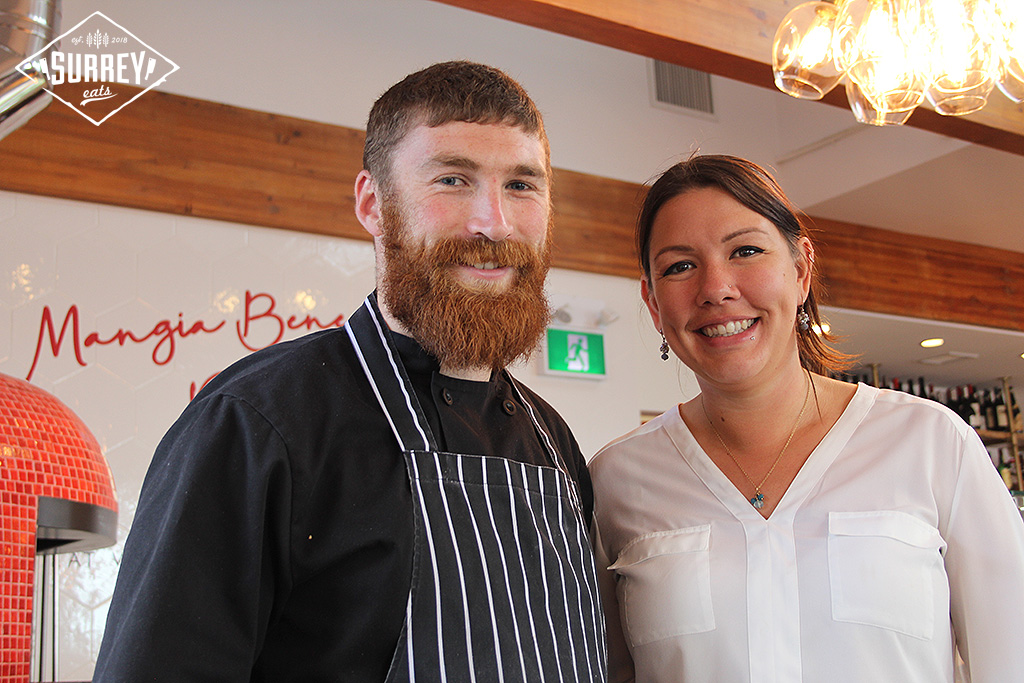 Chef Jack and his wife, the manager of Cotto al Mare