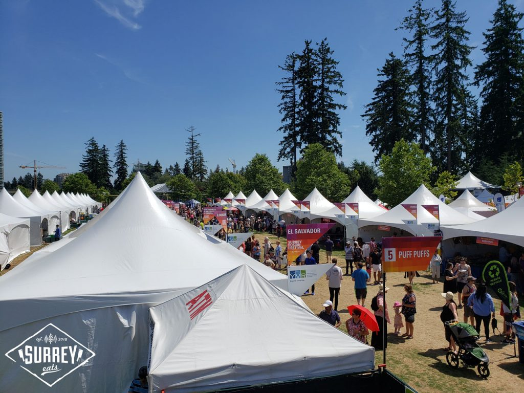A birds-eye view of the tents at Surrey's Fusion Festival