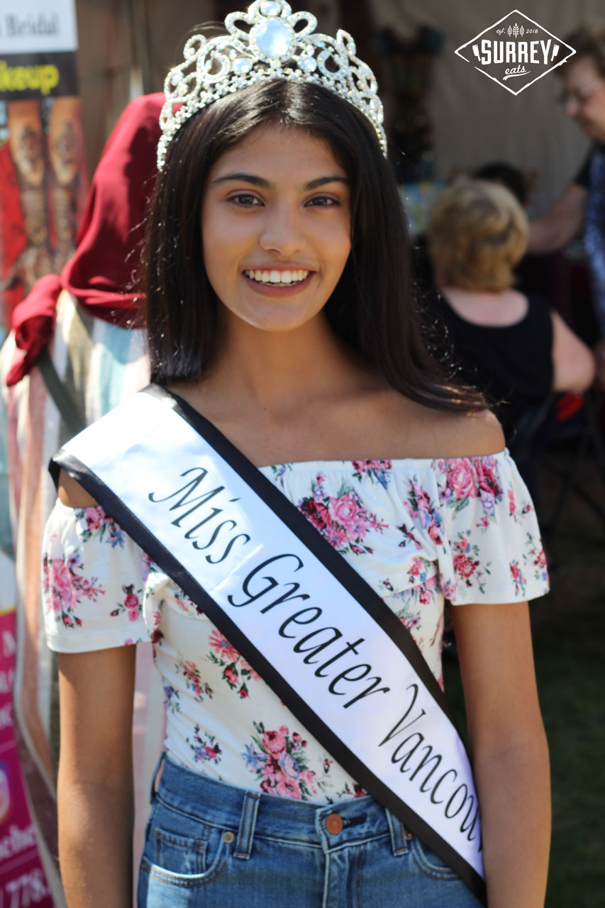 Khushi, Miss Greater Vancouver poses at the Fsuion Festival