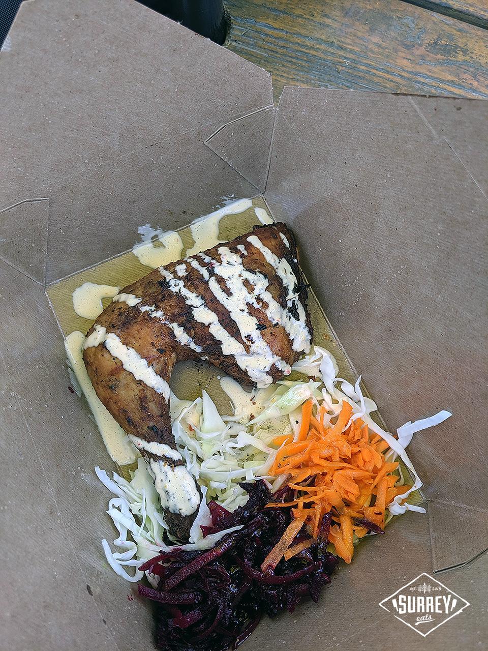 Caribbean Jerk Chicken with Coleslaw from The Jerk Shack