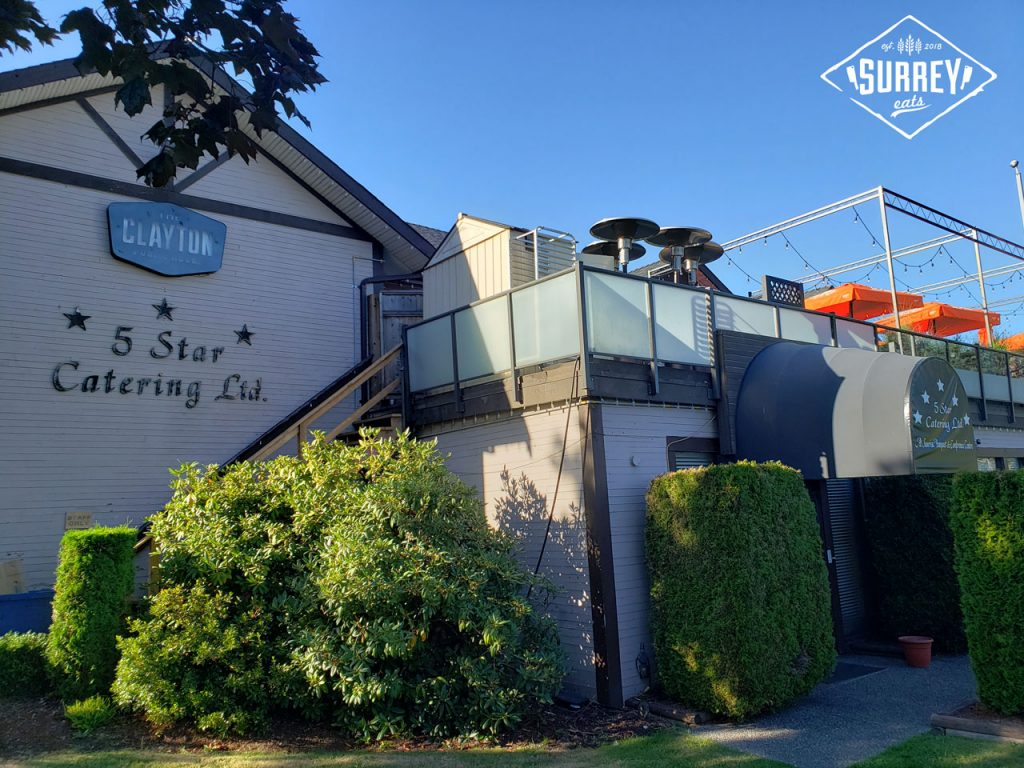 The Clayton Public House exterior with 5 Star Catering Ltd. sign and entrance