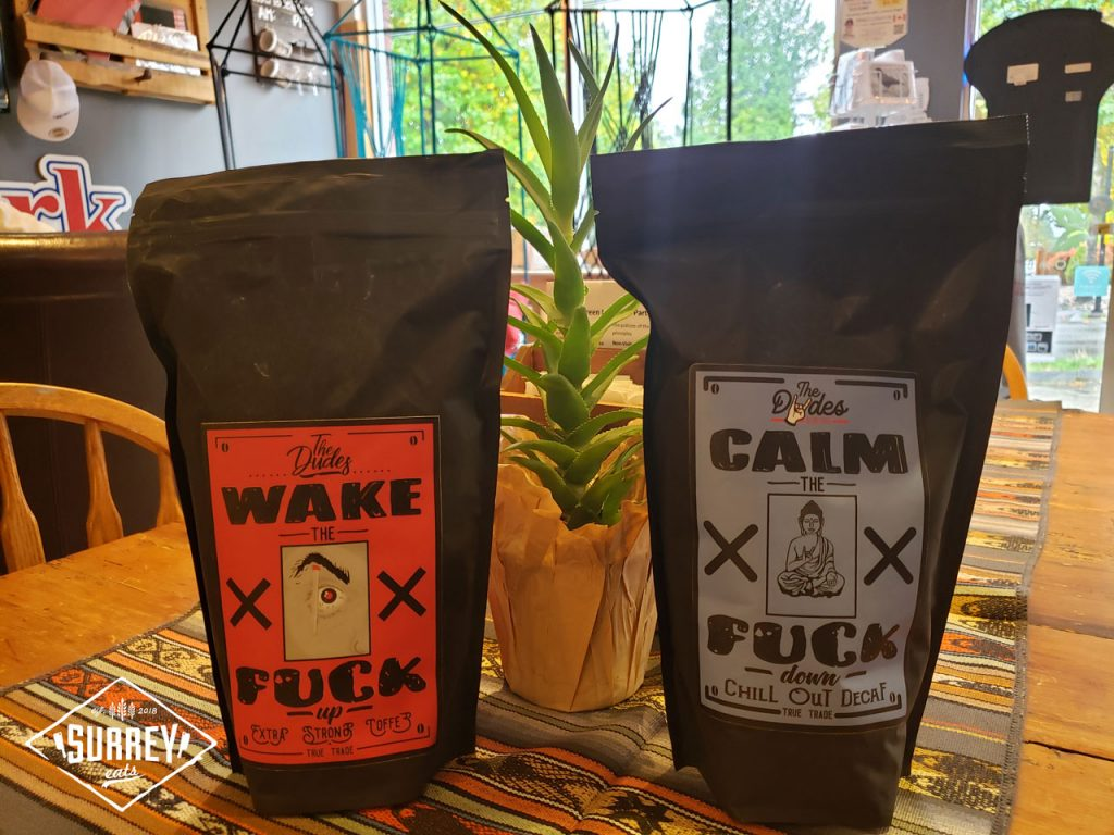 Bags of Dudes Wake the Fuck Up and Calm the Fuck Down coffee