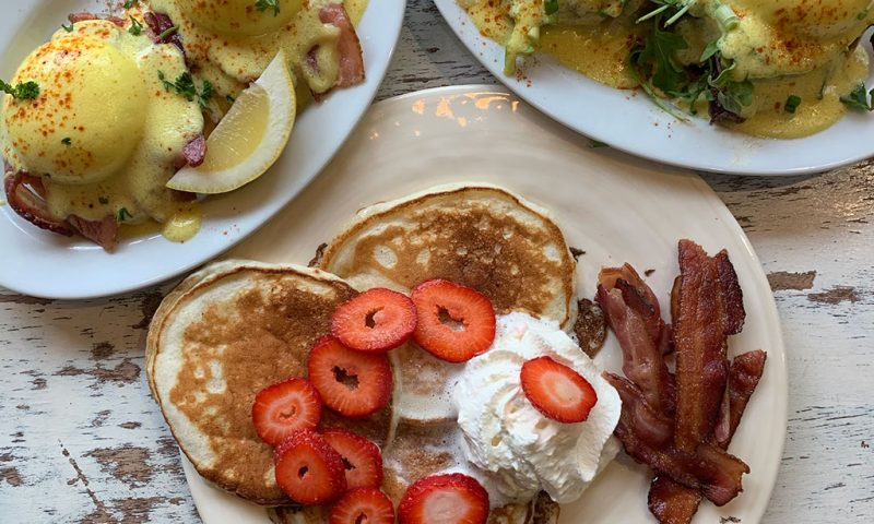 A selection of brunch menu items from The Dudes Coffee Bar in Ocean Park, Surrey