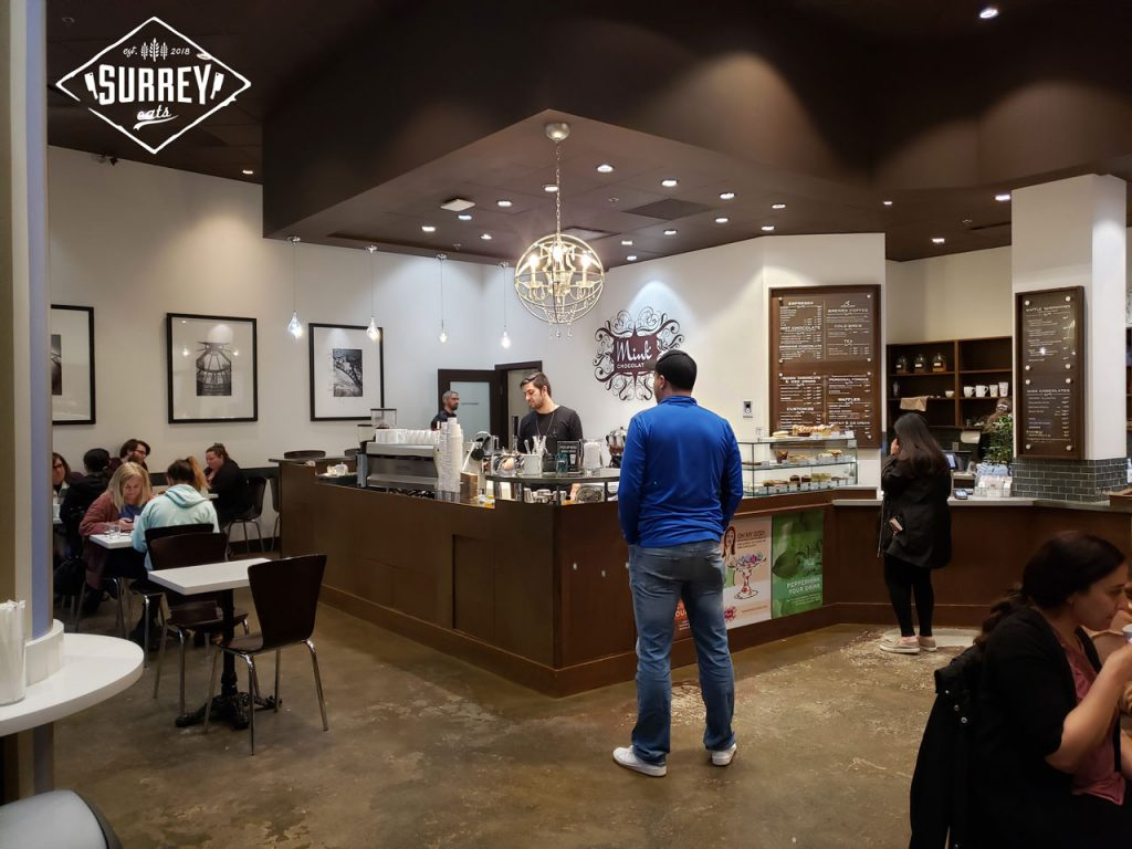 The interior of Mink Chocolates Cafe in South Surrey