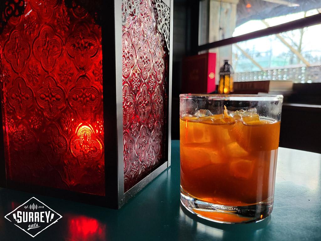 Dawa Daru drink next to a red lantern
