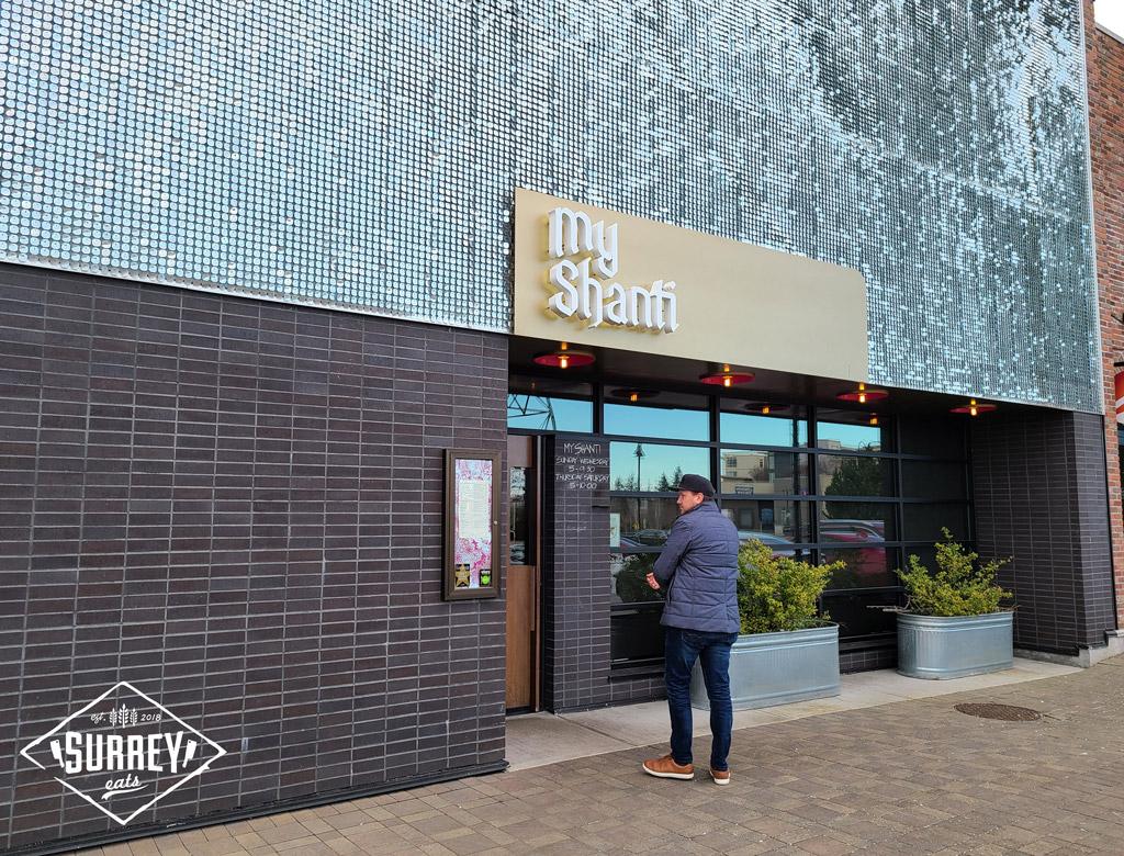 My Shanti restaurant exterior