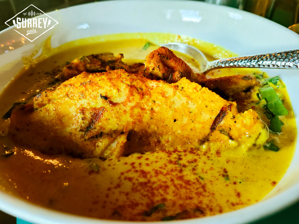 Chicken Korma close-up view