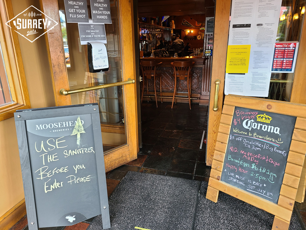 Brewster's Pub covid safety measures