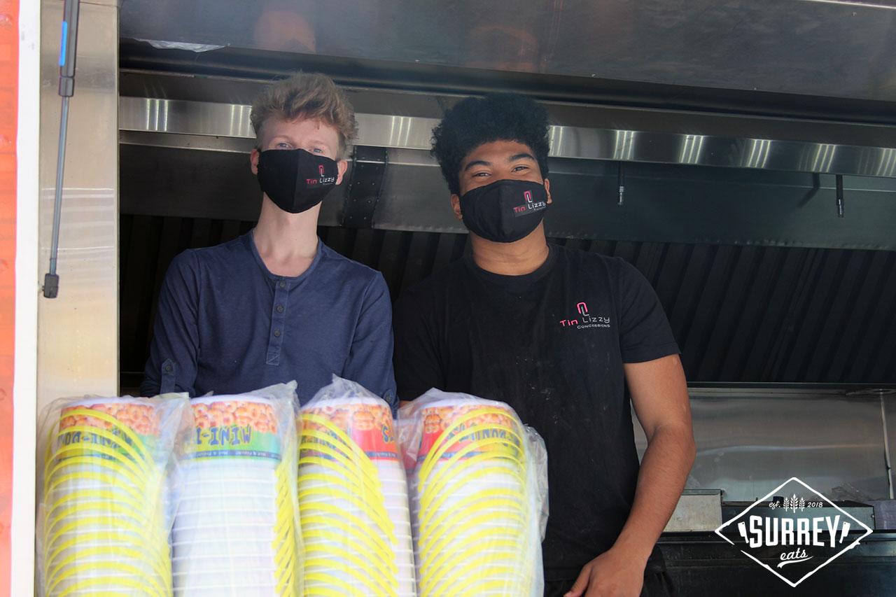 Tin Lizzy Concessions mini donut food truck staff