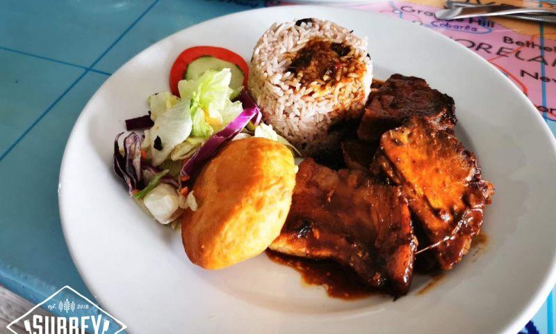 Jerk Pork Caribbean dinner