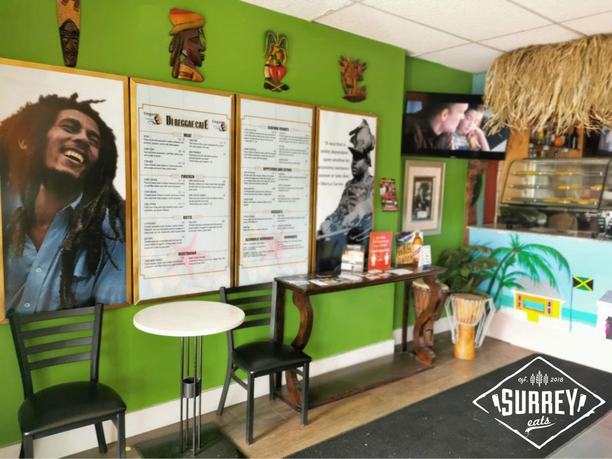 Menu on wall at di reggae cafe