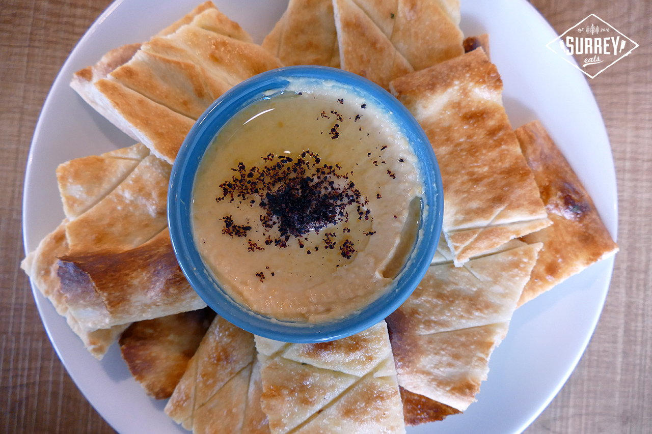 Hummus with afghan bread