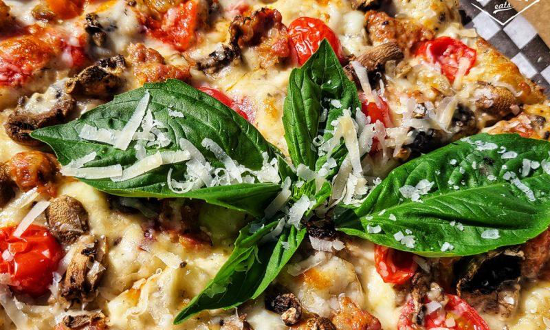 close-up of Montanara pizza from Natalino's Pizza