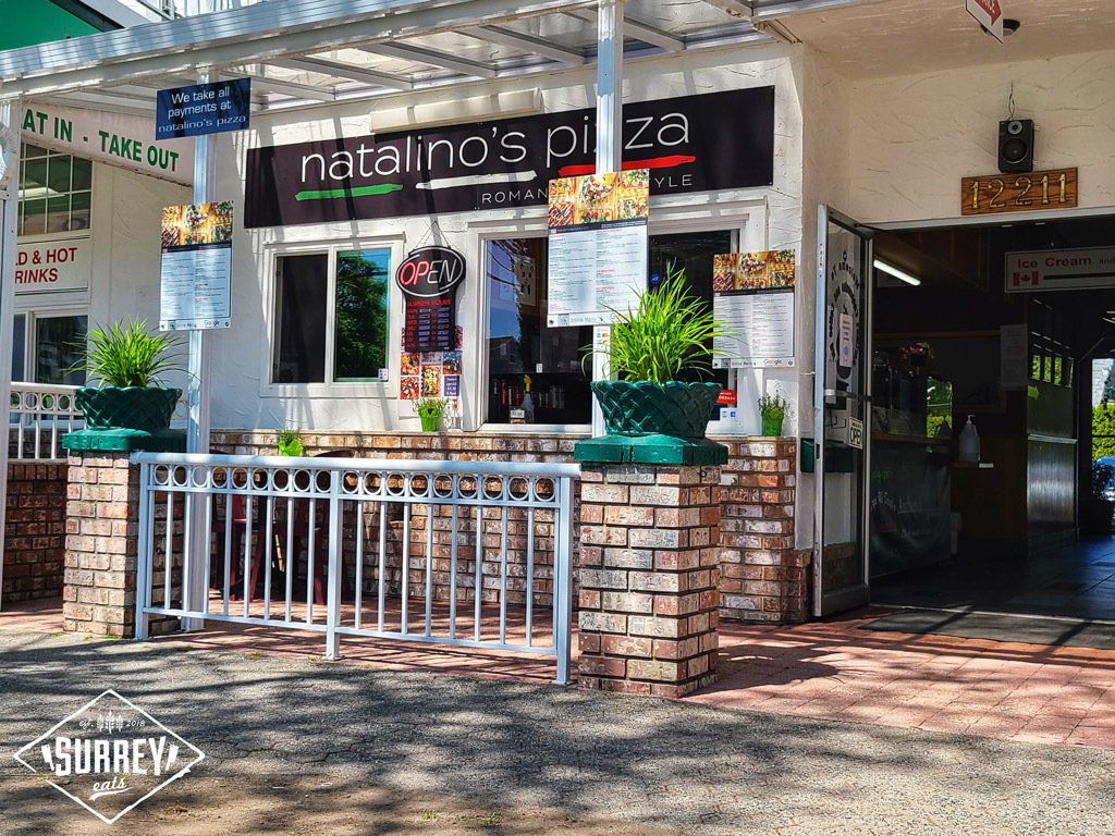 The storefront of Natalino's Pizza in Crescent Beach, Surrey