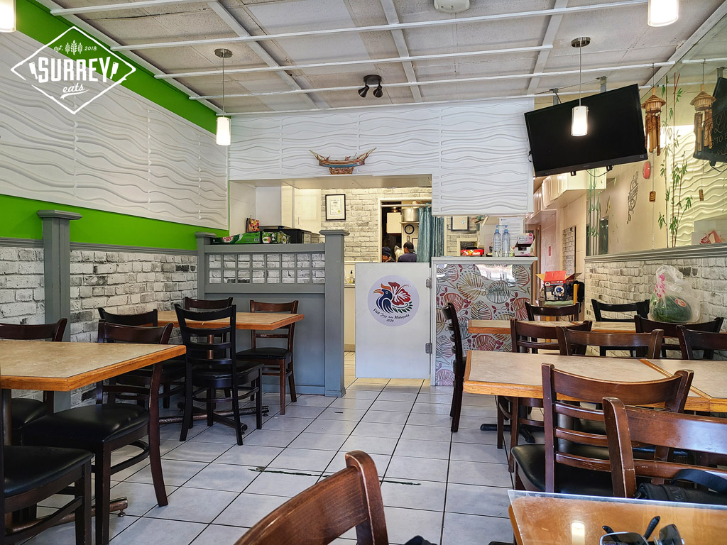 Interior shot of Mek's Delight Restaurant