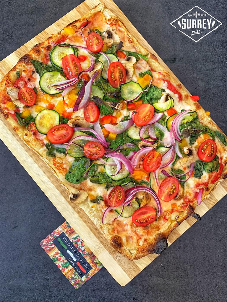 """Vegan pizza """"Explosion of Veggies"""" in Surrey, BC"""