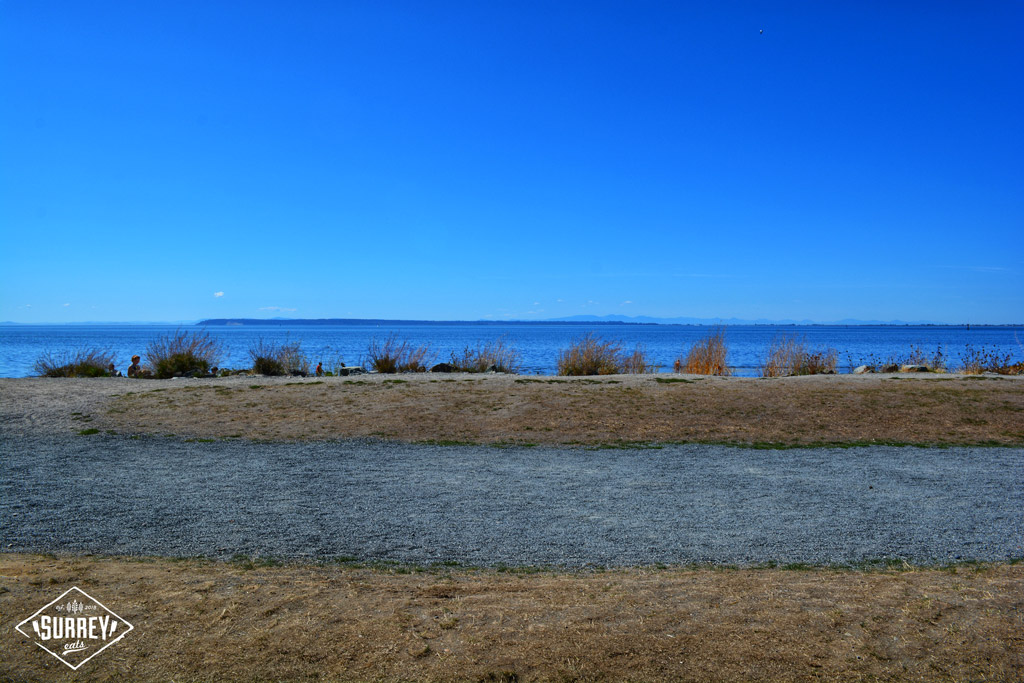 View of Crescent Beach from Hooked Fish Bar's patio